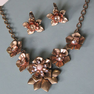 Chloe and Isabel Gardenia Necklace and Earrings